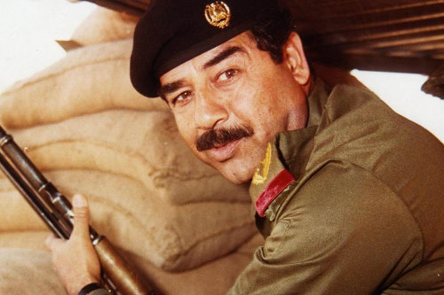 Photo: Late former Iraq president Saddam Hussein. (Copyright NBC)