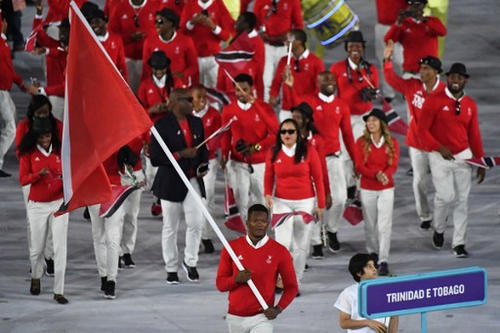Photo: Trinidad and Tobago's flagbearer Keshorn Walcott leads his delegation during the opening ceremony of the Rio 2016 Olympic Games at the Maracana stadium in Rio de Janeiro on 5 August 2016.  (Copyright Pedro Ugarte/AFP 2016/Wired868)