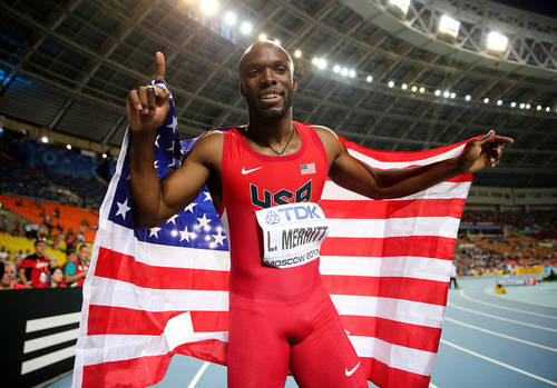 Photo: USA 400 metre runner and the face of penile dissatisfaction, LaShawn Merritt.