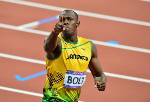 Photo: Jamaica star sprinter Usain Bolt makes his point. (Copyright Daily D Sports)