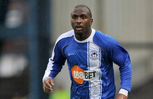 Photo: Former Trinidad and Tobago international striker, Jason Scotland, during his England Premiership stint with Wigan Athletic.