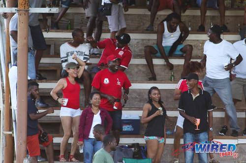 Photo: Fyzabad Secondary supporters get behind their team during SSFL Premier Division action on 24 September 2016 at Fyzabad. (Courtesy Chevaughn Christopher/Wired868)