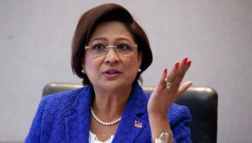 Photo: Trinidad and Tobago Opposition leader Kamla Persad-Bissessar. (Copyright CNC3)