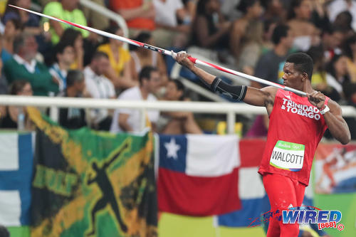 Photo: Trinidad and Tobago javelin star Keshorn Walcott examines his equipment during the Rio 2106 Olympic Games. (Courtesy Allan V Crane/Wired868)