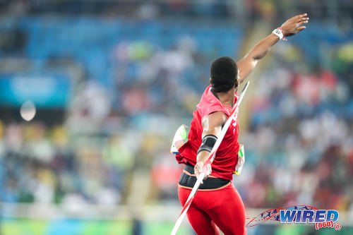 Photo: Trinidad and Tobago javelin star Keshorn Walcott prepares to launch his javelin during the Rio 2106 Olympic Games. (Courtesy Allan V Crane/Wired868)
