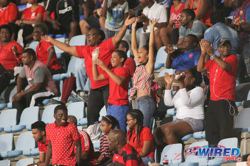 Photo: Trinidad and Tobago football fans get behind their team during Caribbean Football Union (CFU) action against Jamaica on 20 September 2016 at the Ato Boldon Stadium in Couva. (Courtesy Chevaughn Christopher/Wired868)
