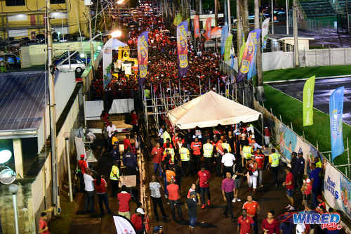 Photo: Soca Warriors supporters trickle into the Hasely Crawford Stadium in Port of Spain to see Trinidad and Tobago tackle Guatemala on 2 September 2016. (Courtesy Wired868)