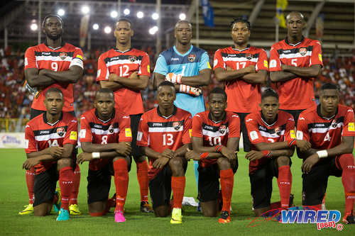 Photo: The Trinidad and Tobago National Senior Team pose before kick off against Guatemala at the Hasely Crawford Stadium in Port of Spain on Friday 2 September 2016. (Courtesy Allan V Crane/Wired868)