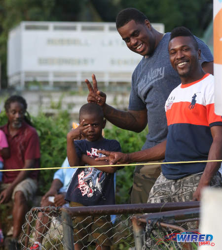 Photo: Some spectators enjoy their evening out during Pro League action between Morvant Caledonia United and San Juan Jabloteh at the Morvant Recreation Ground on 16 October 2016. (Courtesy Sean Morrison/Wired868)