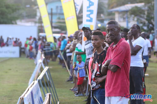 Photo: Spectators at the Morvant Recreation Ground look on as Morvant Caledonia United host San Juan Jabloteh in Pro League action at the Morvant Recreation Ground on 16 October 2016. Jabloteh won 4-2. (Courtesy Sean Morrison/Wired868)