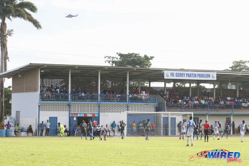 Photo: A view of the Father Gerry Pantin Stand during SSFL Premier Division action between St Mary's College and Naparima College at Serpentine Road on 8 October 2016. (Courtesy Sean Morrison/Wired868)