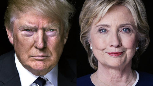 Photo: United States presidential nominees Donald Trump (left) and Hillary Clinton.