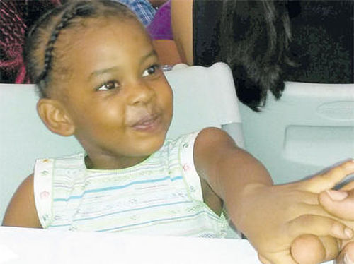 Photo: The four-year-old Jenice Figaro was beaten to death in late 2016. (Copyright Trinidad Guardian)