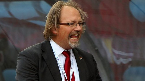 Photo: New Soca Warriors head coach Tom Saintfiet. (Copyright BBC)