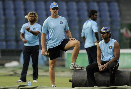 Photo: New West Indies coach Stuart Law (second from left) during his stint with Sri Lanka. (Copyright India Business Times)