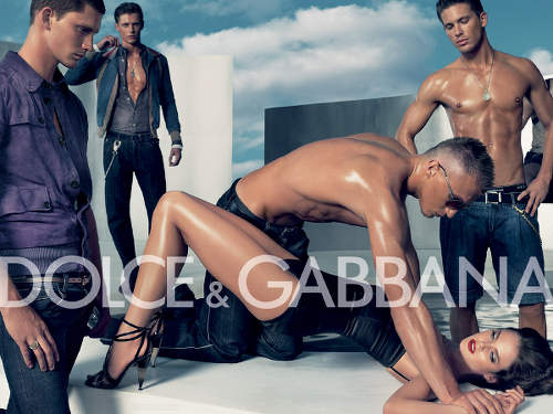 Photo: A sexually explicit Dolce & Gabbana advertisement.