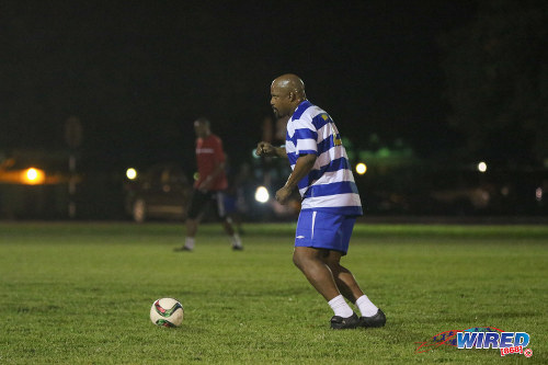 Photo: Presence! Former Soca Warriors utility player Anthony Rougier put in a commanding shift at the Wired868 Football Festival V at UWI admin ground on 7 January 2017. (Courtesy Sean Morrison/Wired868)