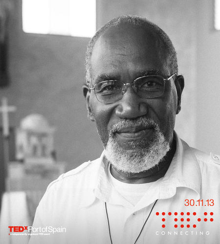 Photo: Roman Catholic parish priest Father Clyde Harvey. (Copyright TedXPortofSpain)