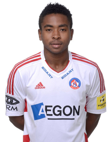 Photo: Trinidad and Tobago defender Keston Julien poses in his new AS Trenčín uniform.