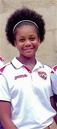Photo: Former Trinidad and Tobago National Under-15 player Abiela Adams.