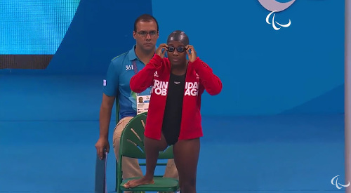 Photo: Trinidad and Tobago paralympic star athlete Shanntol Ince.