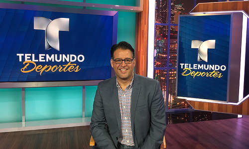 Photo: NBCUniversal executive vice president Eli Velazquez. NBCUniversal is the parent company of Telemundo. (Copyright Sportsvideo.org)