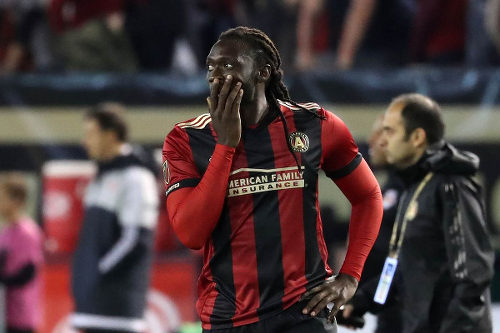 Photo: Atlanta United FC forward Kenwyne Jones. (Copyright Jason Getz/USA Today)