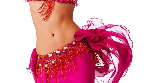 Photo: A belly dancer shows off her moves.