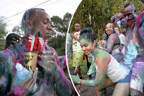 Photo: Star sprinter Usain Bolt was very visible during the Carnival 2017 celebrations but his actions never ignited any controversy in a Carnival that was full of it. (Photo courtesy Daily Star)