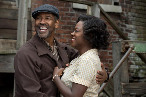 Photo: Denzel Washington (left) and Viola Davis in a scene from the movie, Fences.
