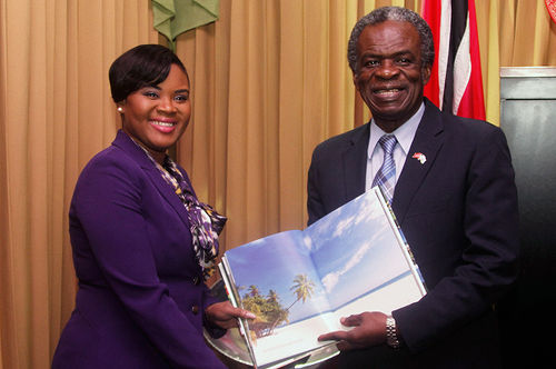 Photo: Tourism Minister Shamfa Cudjoe (left) and former Tobago House of Assembly (THA) chief secretary Orville London. (Copyright THA.gov.tt)