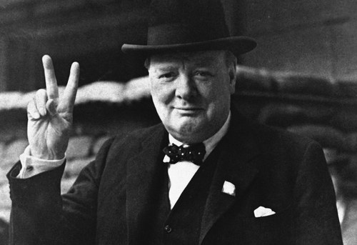 Photo: Former Britain Prime Minister Winston Churchill.