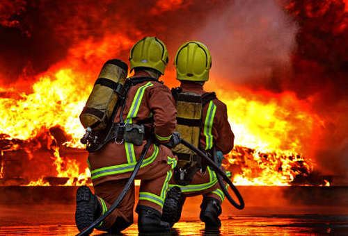 Photo: Firefighters on the job.