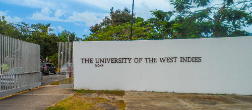 Photo: The main gate at the UWI, Mona Campus in Jamaica. (Copyright Caribbean News Service)