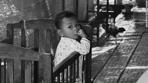 Photo: A child at a children's home in Cambodia.