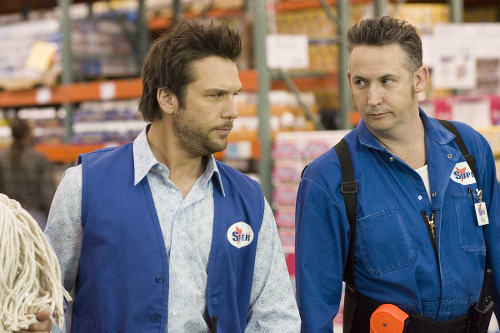 Photo: Actors Dane Cook (left) and Harland Williams in a scene from the movie Employee of the Month.