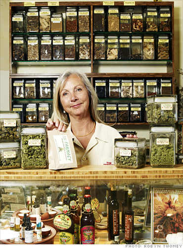 Photo: A pharmacist at a medical marijuana store in Colorado, United States.