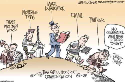 Photo: The evolution of communication...