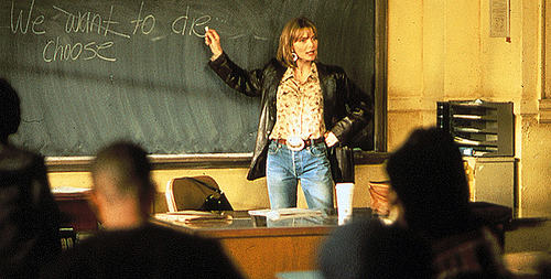 """Photo: A scene from the movie """"Dangerous Minds."""""""