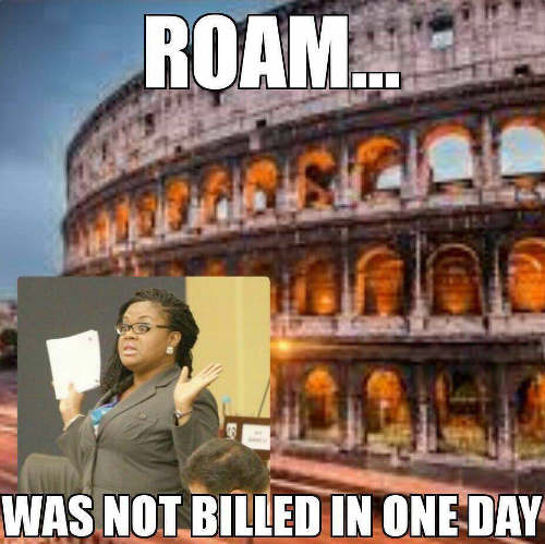 Photo: Shamfa Cudjoe, Roman Empress... (Meme: Christian Hume)