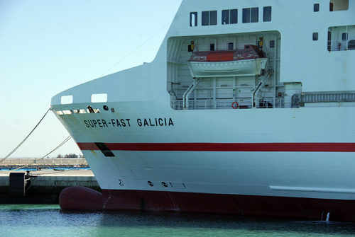 Photo: The MV Superfast Galicia. (Copyright Trasemeships)