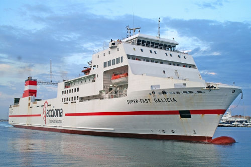 Photo: The MV Superfast Galicia. (Copyright CTV)