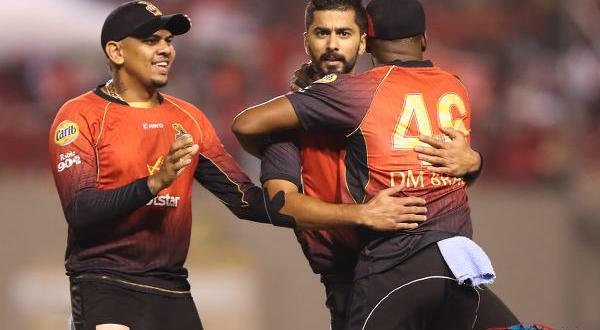 CPL 18: Fawad and Khan strike as TKR down SKNP to set up final clash with Guyana