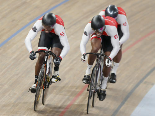 Trinidad and Tobago cycling Nicholas Paul, Njisane Phillip and Keron Bramble