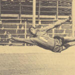 A 'Tiger' at the back and Gellineau's good head on top; T&T's humble W/Cup bow in '66