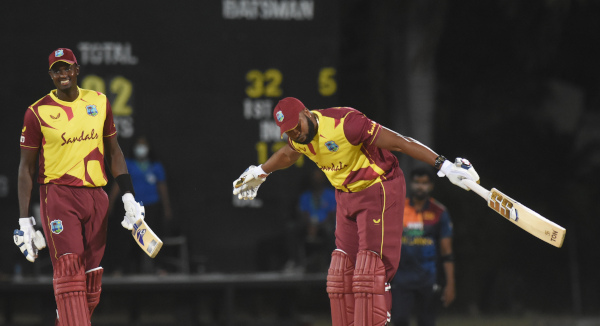 Pollard scores six sixes in record over, as West Indies whip Sri Lanka in opening T20