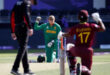 T2021 W/C: WI in trouble after 8-wkt loss to S/Africa despite de Kock pull-out after refusing 'the knee'
